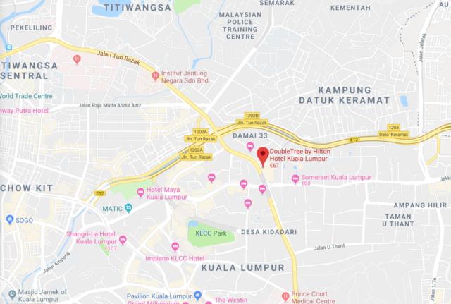 Doubletree by hilton, Kuala Lumpur, locatie