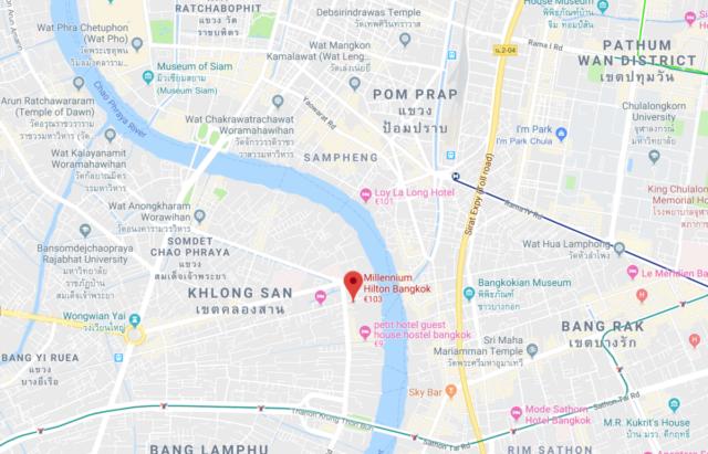 locatie, millennium hilton bangkok