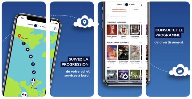 De nieuwe 'In the Air' app van Air France (Bron: iTunes)