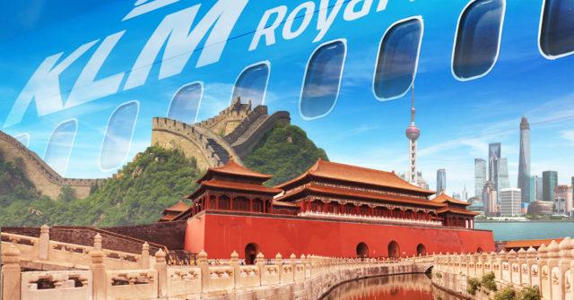 China blijft een belangrijke markt voor de Europese carriers als KLM (Bron: KLM)