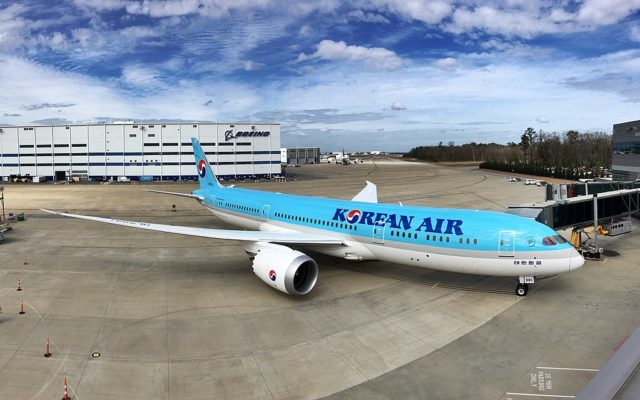 korean air, dreamliner