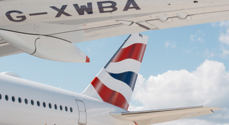 British Airways' eerste A350 geland op Londen Heathrow