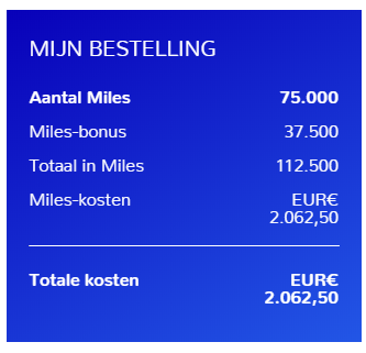 Flying Blue miles met 50%
