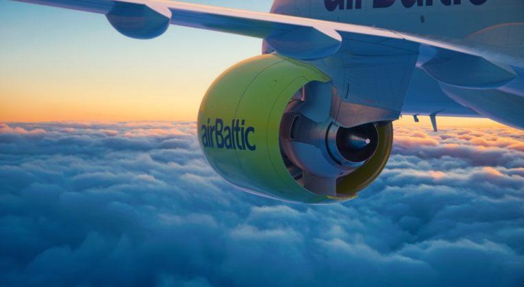 AirBaltic CS300 / Airbus 220 (Bron: airBaltic)