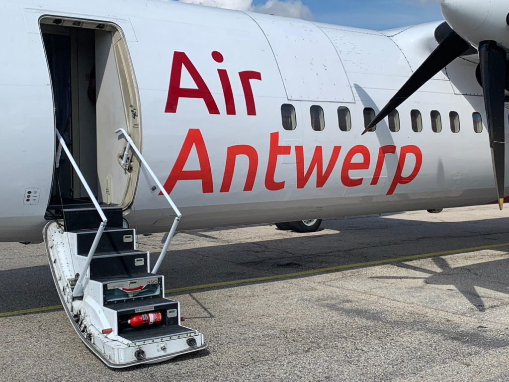 Fokker 50 van Air Antwerp (Bron: Air Antwerp)