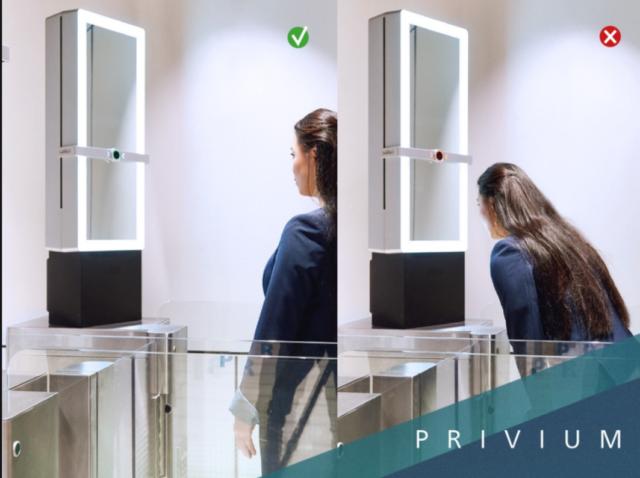 Middels een geautomatiseerde controle van biometrische gegevens krijg je snel toegang tot de luchthaven (Bron: Privium / Schiphol)