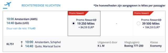 Flying Blue Promo rewards
