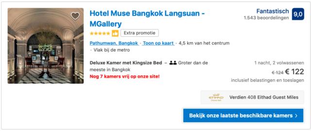 Etihad Guest leden sparen meer Miles via Booking.com