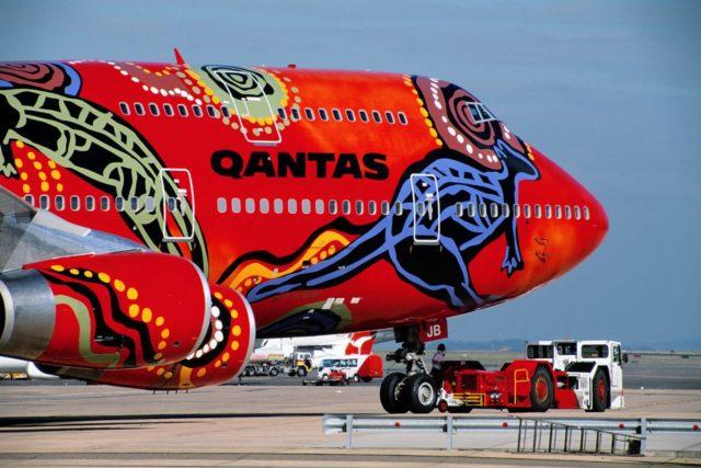 Boeing 747 van Qantas in speciale livery (Bron: Qantas)
