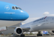 Air France en KLM toestellen naast elkaar