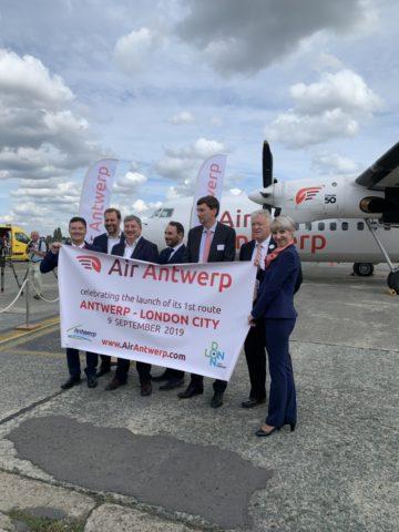 Zowel de CEO van Air Antwerp als van Antwerpen Airport was aanwezig bij het event.