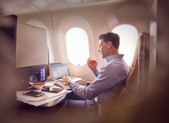 Business class cabine aan boord van Ethiad (Bron: Etihad)