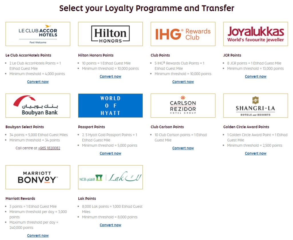 Etihad Guest 20% transfer bonus