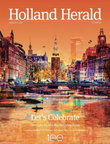 De verjaardagsuitgave van de Holland Herald (Bron: KLM / Holland Herald)