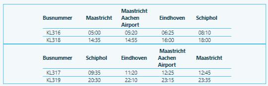 KLM Bus maastricht