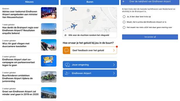 App houdt buurt Eindhoven Airport op de hoogte over vluchtroutes