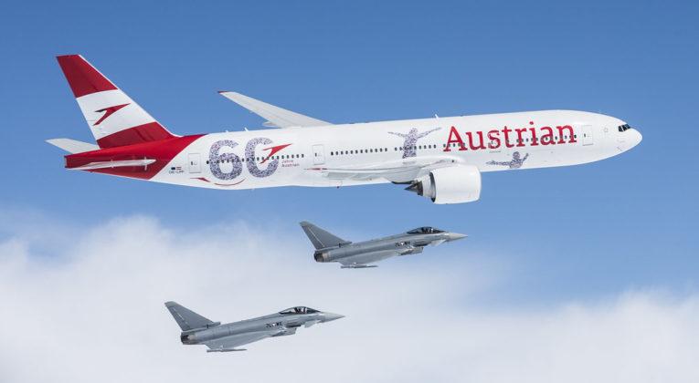 Boeing 777-200 van Austrian Airlines (Bron: Austrian Airlines_