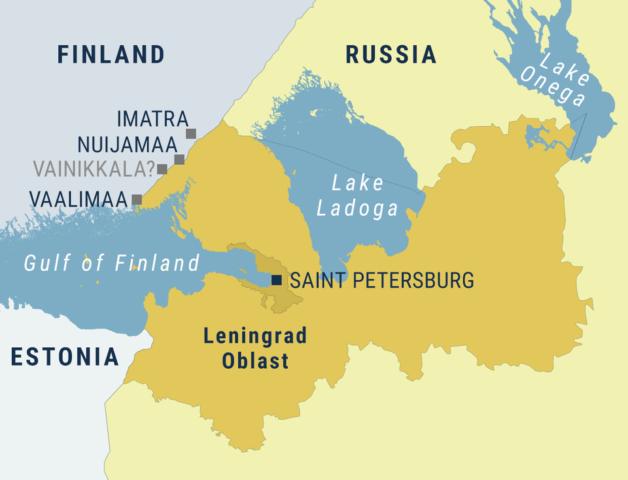 Plattegrond Leningrad Oblast