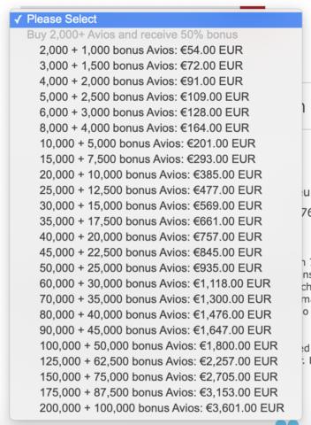 Iberia Avios kopen met 50% korting