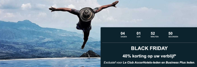 40% Black Friday Korting bij AccorHotels