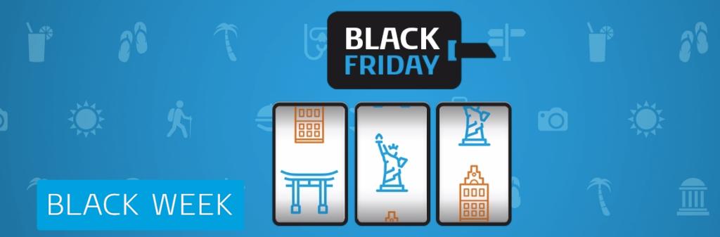 In Duitsland heeft KLM wel Black Friday aanbiedingen (Bron: KLM DE)