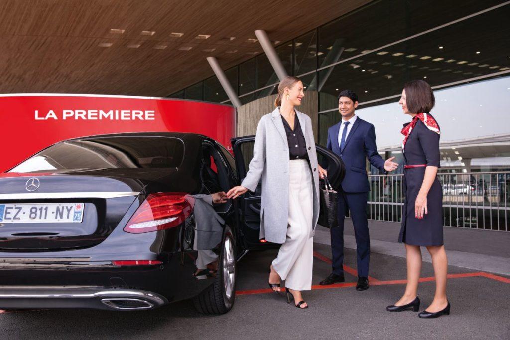 La Première passagiers worden gratis opgehaald door Hertz DriveU (Bron: Air France)