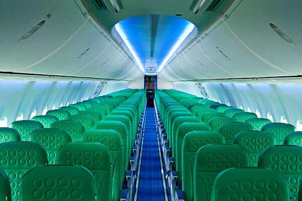 Boeing 737 cabine van Transavia (Registratie: PH-HSF) (Bron: Transavia)