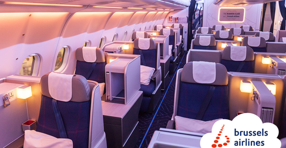 Brussels Airlines business class cabine (Bron: Brussels Airlines)