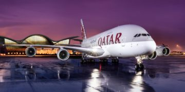 Airbus A380 van Qatar Airways (Bron: Qatar Airways)