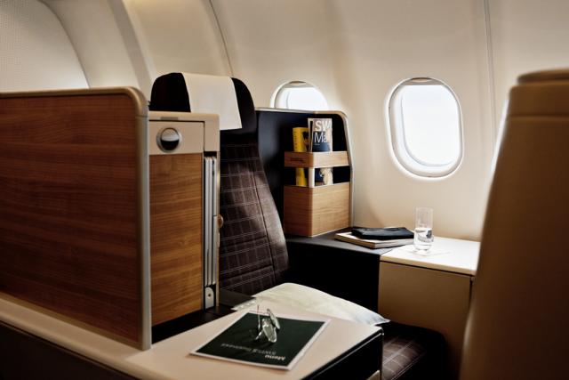 De nieuwe Business Class cabine in de SWISS Airbus A340 (Bron: SWISS)