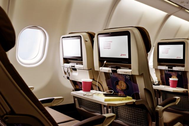 De nieuwe Economy Class cabine in de SWISS Airbus A340 (Bron: SWISS)