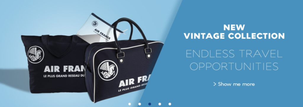 Air France vintage shopping collectie