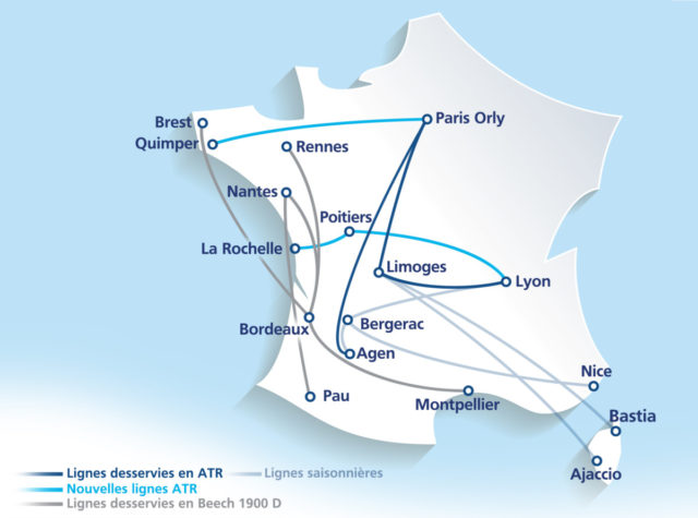 Route netwerk Chalair