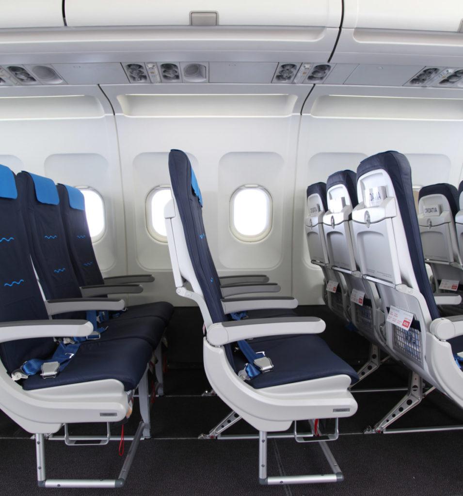 Croatia Airlines interieur