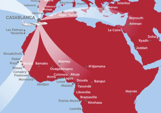 Afrikaanse bestemmingen Royal Air Maroc