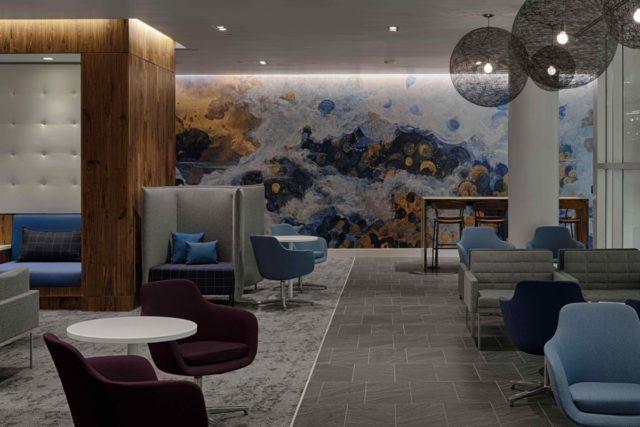 De nieuwe American Express Centurion Lounge in Charlotte beschikt over een heuse muurschildering (Bron: Business Wire / American Express)