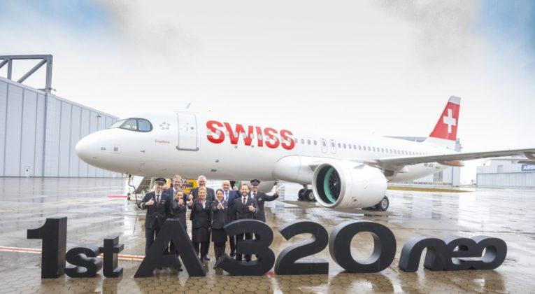 Eerste Airbus A320neo van SWISS (Bron: Airbus / SWISS)