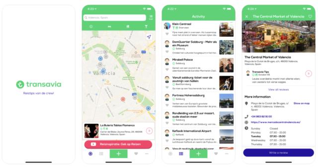 De nieuwe Transavia Reistips app is nu beschikbaar (Bron: Apple / Transavia)
