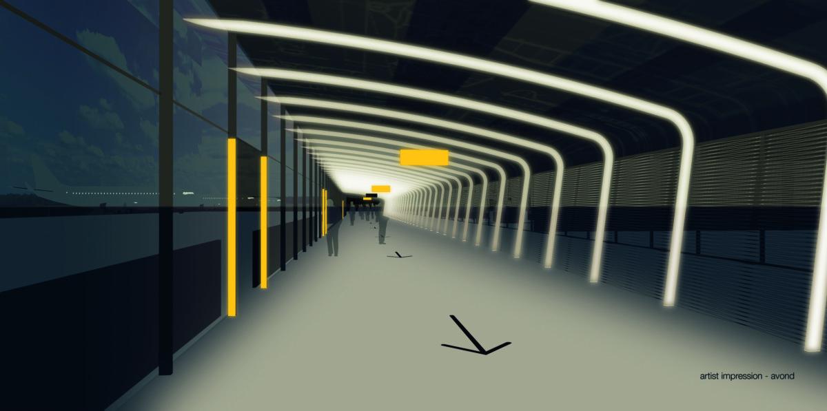 Overdekte looproutes Eindhoven Airport