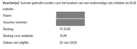 KLM EMD-voucher