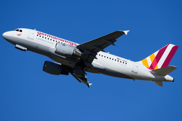 Airbus A319-100 in Germanwings livery (Bron: Wikimedia Commons)