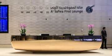 Al Safwa First Class Lounge van Qatar Airways in Doha (Bron: Qatar Airways)