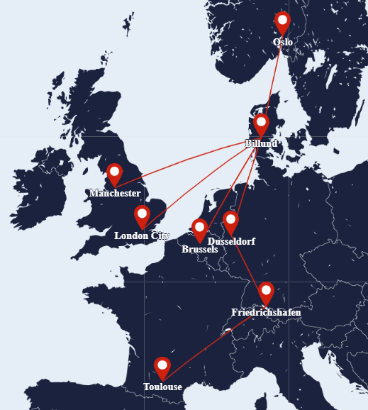 SUN-AIR route map