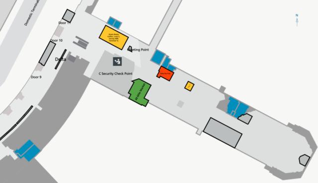 Review - Delta Sky Lounge San Francisco Terminal 1 nabij Gate C3
