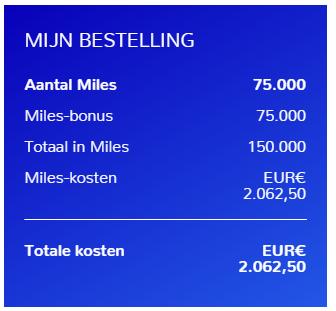 Koop Flying Blue miles met bonus