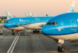 KLM toestellen geparkeerd op Amsterdam Airport Schiphol (Bron: KLM)