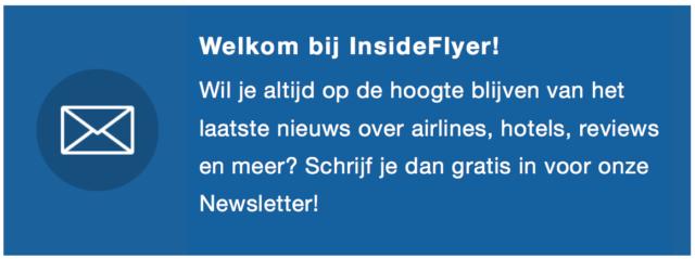 Schrijf je in voor de InsideFlyer Nieuwsbrief.