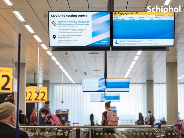 Corona Teststraat Schiphol nu alweer gesloten