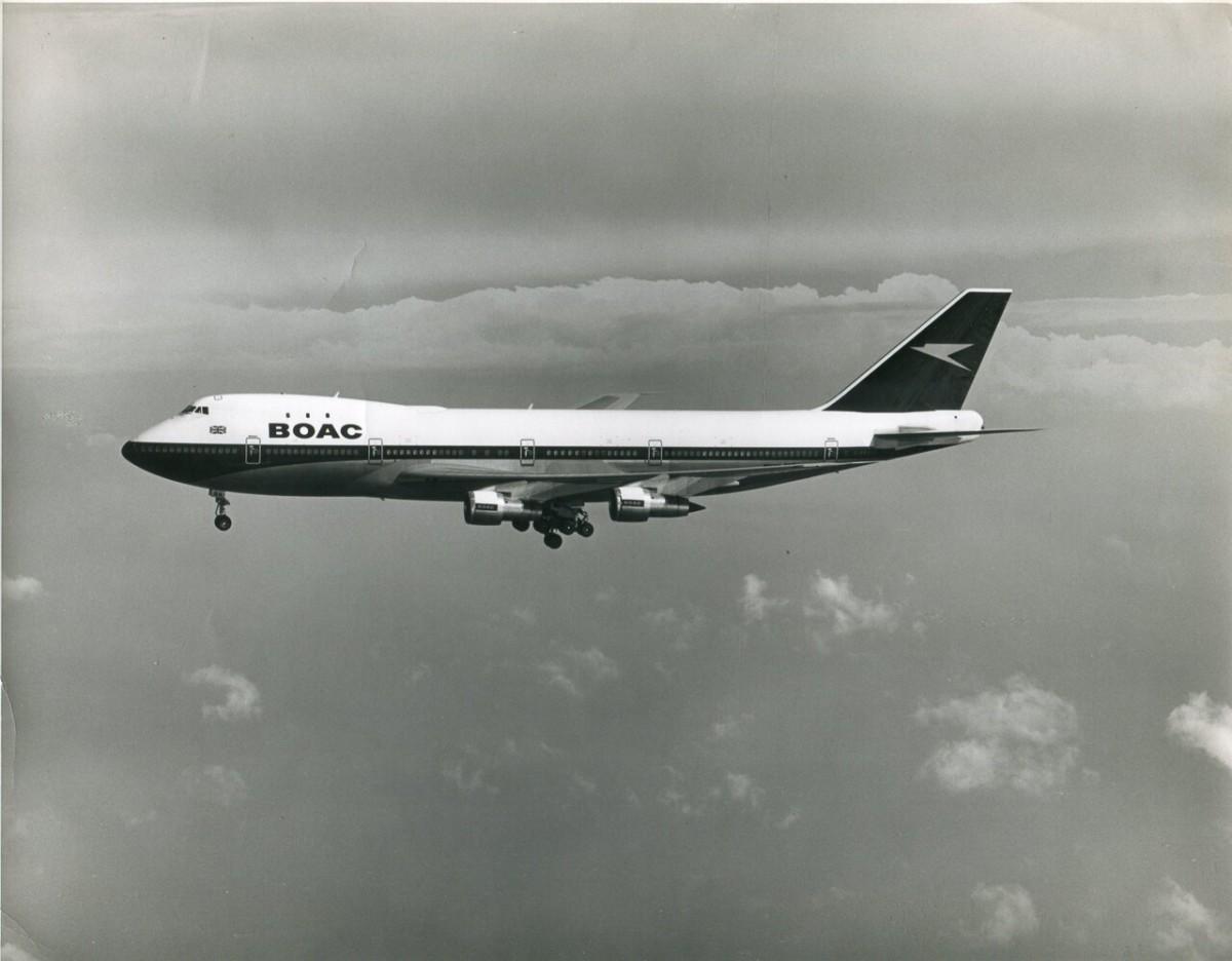 Boeing 747 van British Airways in BOAC livery (Bron: British Airways)