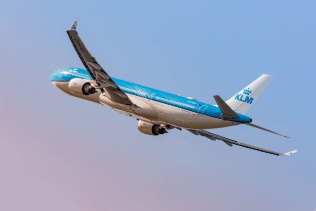 KLM Airbus A330-300 in de nieuwe livery (Bron: KLM)